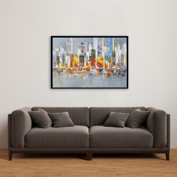 Framed 24 x 36 - Color splash cityscape