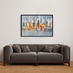 Framed 24 x 36 - Color splash cityscape