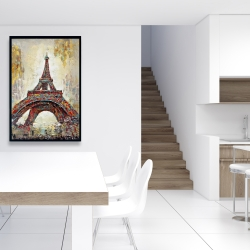 Framed 24 x 36 - Abstract eiffel tower