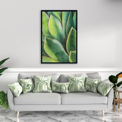 Framed 24 x 36 - Watercolor agave plant