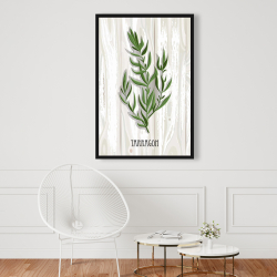 Framed 24 x 36 - Tarragon on wood