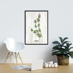 Framed 24 x 36 - Thyme on wood