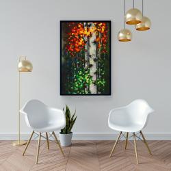 Framed 24 x 36 - Bicolored leaf birch 1