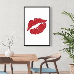 Framed 24 x 36 - Red lipstick mark