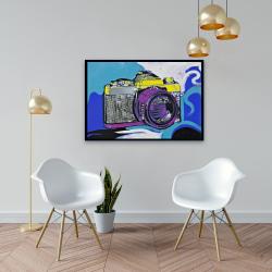 Framed 24 x 36 - Retro camera