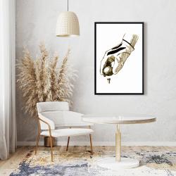 Framed 24 x 36 - Illustration of a golf glove