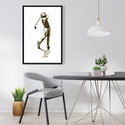 Framed 24 x 36 - Illustration of a golfer