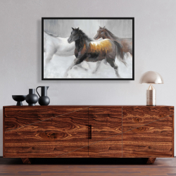 Framed 24 x 36 - Herd of wild horses