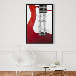 Framed 24 x 36 - Red electric guitar