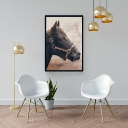 Framed 24 x 36 - Gallopin the brown horse