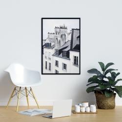 Framed 24 x 36 - Historical buildings