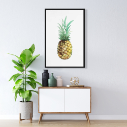 Framed 24 x 36 - Watercolor pineapple