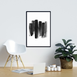 Framed 24 x 36 - Black shapes