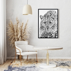 Framed 24 x 36 - Leopard ready to attack