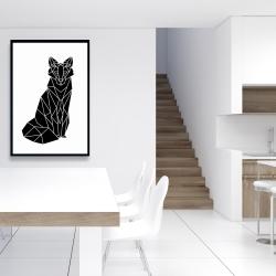 Framed 24 x 36 - Geometric fox
