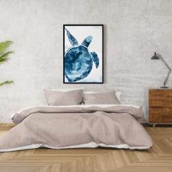 Framed 24 x 36 - Blue turtle