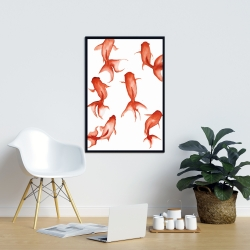 Framed 24 x 36 - Small red fishes