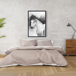 Framed 24 x 36 - Domino horse