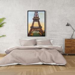 Framed 24 x 36 - Eiffel tower by dawn