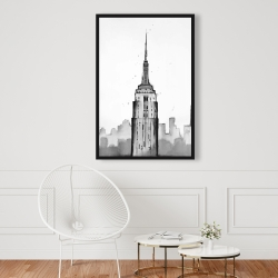 Framed 24 x 36 - Empire state building