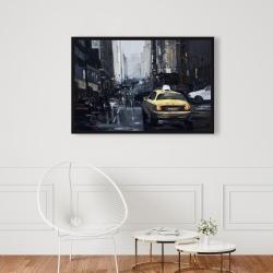 Framed 24 x 36 - New york in the dark
