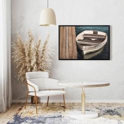 Framed 24 x 36 - Rowboats