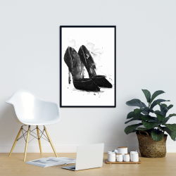 Framed 24 x 36 - Black pumps