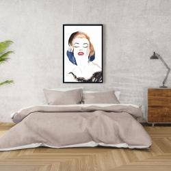 Framed 24 x 36 - Vintage chic maryline monroe