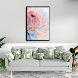 Framed 24 x 36 - Lotus pastel flower