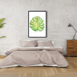Framed 24 x 36 - Tropical leaf