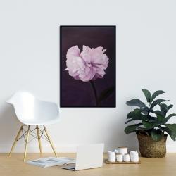 Framed 24 x 36 - Beautiful purple flower