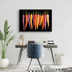 Framed 24 x 36 - Carrots varieties