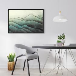 Encadré 24 x 36 - Montagnes en tons de gris