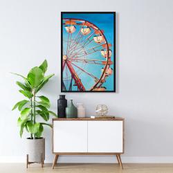 Framed 24 x 36 - Ferris wheel by a beautiful day