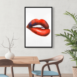 Framed 24 x 36 - Beautiful red mouth