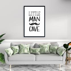 Framed 24 x 36 - Little man cave