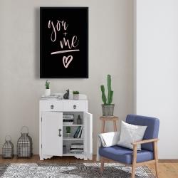 Framed 24 x 36 - You + me