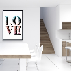 Framed 24 x 36 - Colorful love