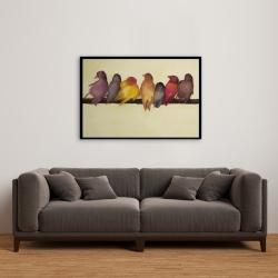 Framed 24 x 36 - Bird family
