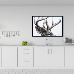 Framed 24 x 36 - Roe deer plume