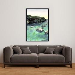 Framed 24 x 36 - Boats in cala macarella