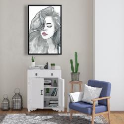 Framed 24 x 36 - Beautiful female hair