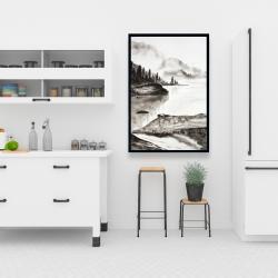 Framed 24 x 36 - Peaceful landscape