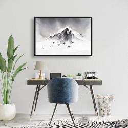 Framed 24 x 36 - Mountain peak