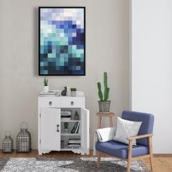 Framed 24 x 36 - Pixelized landscape