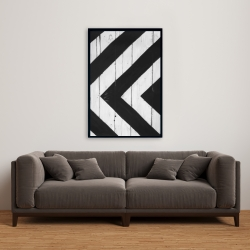 Framed 24 x 36 - Rhombus on wood