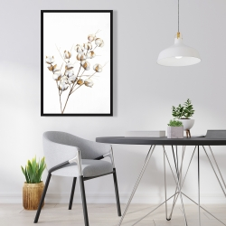 Framed 24 x 36 - A branch of cotton flowers