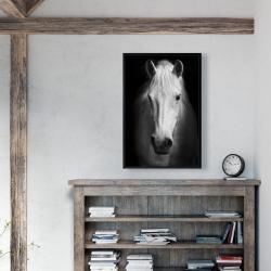 Framed 24 x 36 - Monochrome horse