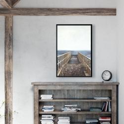 Framed 24 x 36 - Relaxing beach