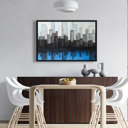 Framed 24 x 36 - View of a blue city